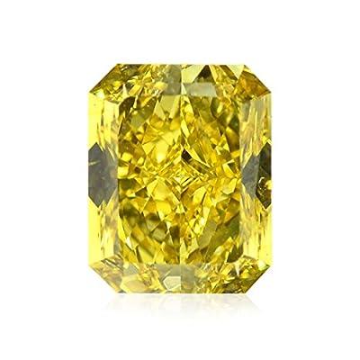 1.09 Carat Fancy Vivid Yellow Loose Diamond Natural Color Radiant Cut GIA Cert