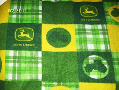 28x44 John Deere Tractor Patchwork Double Sided Fleece Baby Toddler Nap Blanket