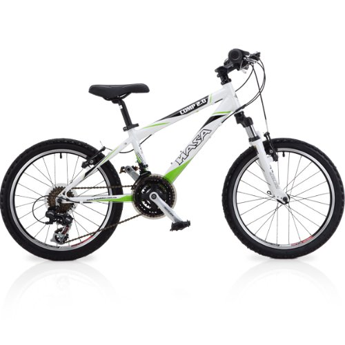 2013 HASA 18 Speed Kids Mountain Bike (SHIMANO) 20 INCH White