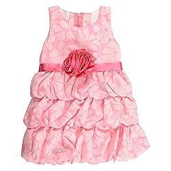 Little Kangaroos Girls Pink Dress (8903208892164_Pink_3-4 Years)