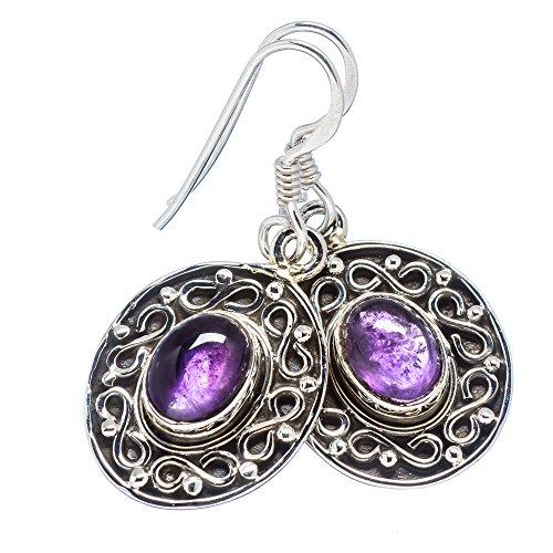 Ana Silver Co Amethyst 925 Sterling Silver Earrings 1 1/4