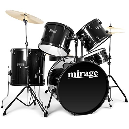 mirage-5-piece-beginners-drum-kit-full-size-with-stool-and-sticks-black