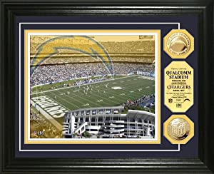 NFL San Diego Chargers Stadium Gold Coin Photo Mint by Highland Mint