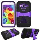 Phone Case Straight Talk Samsung S820c Galaxy Core Prime LTE Smartphone Heavy Duty Armor Cover Purple Stand for Galaxy Prevail LTE