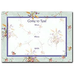Tea Table - Set of 10 Pop-up Style Invitations