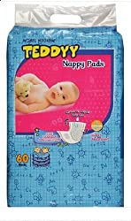 Teddyy Nappy Pads (60 Count)