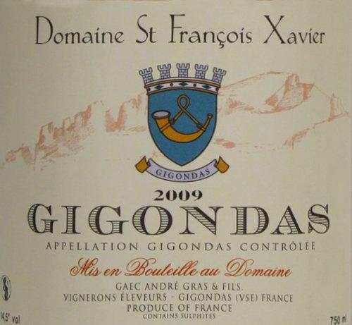 2009 Domaine St. Francois Xavier Gigondas Rhône Valley Red Wine 750 Ml