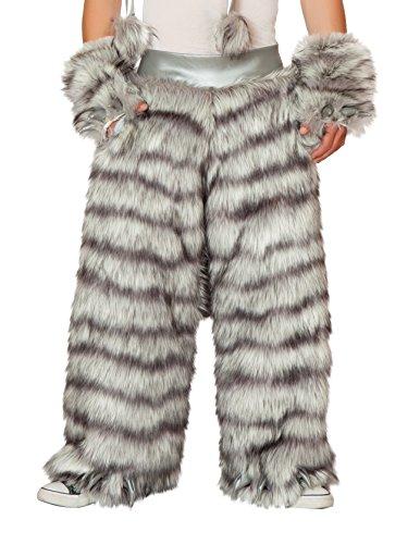 J. Valentine Women's Unisex Wolf Pants, Grey, 34/36