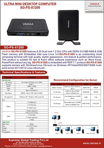 Vamaa (SG-PS-X1200) Ultra Mini Desktop