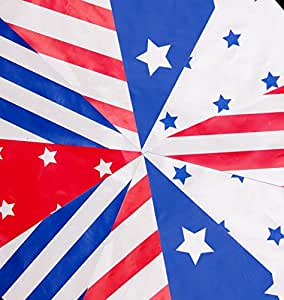 Stars And Stripes Nautical Flag Red White Blue Bunting 10m