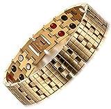 Via Mazzini Stainless Steel Golden Bracelet For Men By Via Mazzini (Bracelet0279...