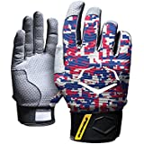 Evoshield Adult Pro Batting Gloves 1 Pair Xx-Large Red/Blue/White Red|Blue|White XX-Large, XX-Large/Red