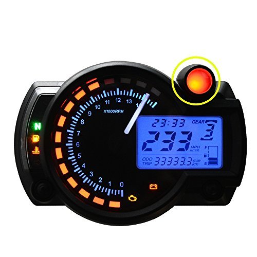 All-in-One Motorcycle Odometer Sdometer Tachometer Gauge ... on
