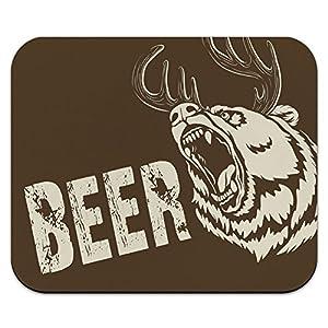 Beer Bear Deer - Funny Hunting Mouse Pad Mousepad