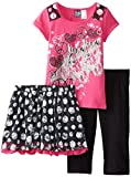 Pogo Club Girls 7-16 Patricia Skirt Top and Legging Set