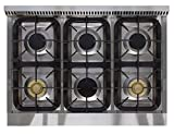 AGA-APRO36AGSS-36-Professional-Gas-Range-with-RapidBake-Convection-Stainless-Steel