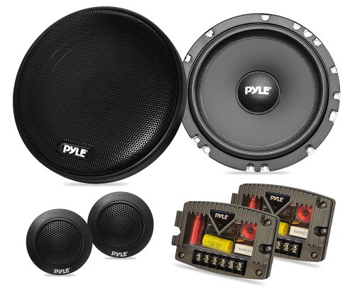 Pyle PLSL650K Plus Series 6.5-Inch 300 Watt Slim Mount 2-Way Component System Kit with 2 Speakers & 2 Tweeters (Low Profile 300w compare prices)