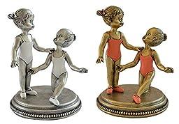Gift Garden Vintage Style Ballerina Girls Figurines Keepsake Decor 2pcs Set