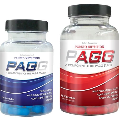 PAGG Stack by Pareto Nutrition One Month Supply- Exact Fat Burning Ingredients and Dosing as Seen in 4 Hour Body- Made in the USA!