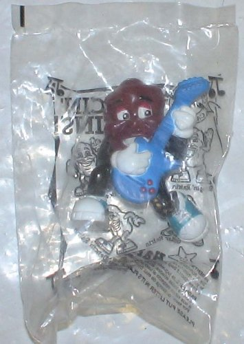 Vintage Pvc Figure : California Raisins Blue Guitar Mib - 1