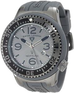 Swiss Legend Men's 21818P-GM-018B Neptune Charcoal Grey Dial Grey Silicone Watch