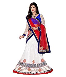 Manvaa Women Jacquard Lehenga Choli(White_ASNB4048A_Free Size)