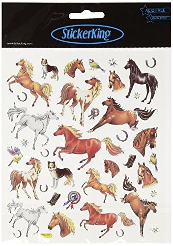 Multi-Colored Stickers-Thoroughbred Horses