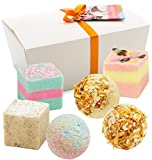 "BRUBAKER Cosmetics 6 Handmade ""Carribian Daiquiri"" Spa Bath Bombs Fizzies Gift Set - All Natural Vegan, Organic Shea Butter, Cocoa Butter and Olive Oil Moisturize Dry Skin"