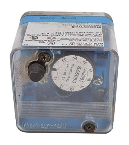 Honeywell C6097B1002 Pressure Switch, Pressure Control and Limit