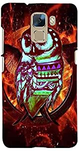 PrintVisa 3D-HH7-D8148 Birds Abstract Owl Case Cover for Huawei Honor 7
