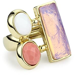 KARA by Kara Ross Classic Oval and Rectangle Adjustable Ring, Opal, White and... by KARA+by+Kara+Ross