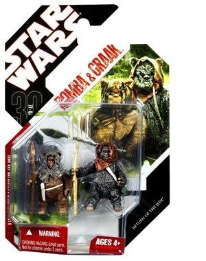 Star Wars – Return Of The Jedi – EWOK: ROMBA & GRAAK – # 43 – Saga 2008 30th Anniversary Wave – Hasbro günstig