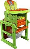 Silla alta - Trona Multifuncion - Trona Plegable - Tronas bebe ARTI Pauli Elephant Green Orange Baby Set - silla y mesa - Silla alta con funcion mecedora