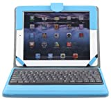 Ruban iPad Air Keyboard Case, Removable Wireless Bluetooth Keyboard Case Cover with Auto Wake Sleep, Tablet Stand for iPad Air 1,2 - Sky Blue