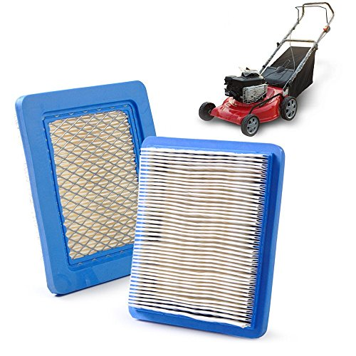 Air Filters Lawnmowers x 2 pcs. For Briggs & Stratton 491588 491588S 5043 5043D 399959 119-1909