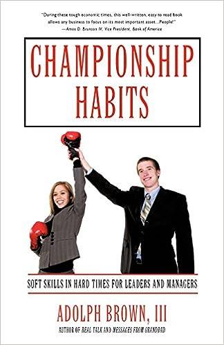 Championship Habits Book