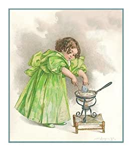Girl Cooking By Maud Humphrey Bogart Counted