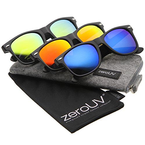 zerouv-matte-finish-color-mirror-lens-large-square-horn-rimmed-sunglasses-55mm-3-pack-ice-fire-sun