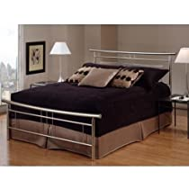 Hot Sale Hillsdale Furniture 1331BQR Soho Bed Set with Rails, Queen, Brushed Nickel