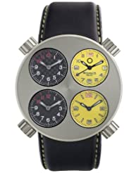 Discounted Meccaniche Veloci Men's W106SY_032 Quattro Valvole Four Time Zone Watch Limited time