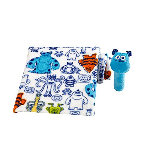 Disney Baby - Monster's Sulley Baby Blanket with Stick Rattle - 1