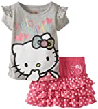 Hello Kitty Girls 2-6X Sugar Glitter Skirt Set