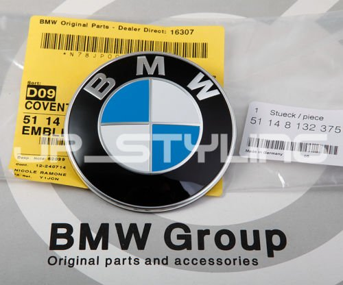 [TIME SLAE] Genuine BMW Hood Trunk Emblem Badge 51148132375 E81 E82 E87 E88 F20 F21 E46 E90 E91 E92 E93 F30 F31 F34 E60 E61 F07 F10 F11 E63 E63 F06 F12 F13 E65 E66 F01 F02 F03 F04 E85 E86 E89 X1 X5 X6 (1995 Bmw 325i Emblem compare prices)