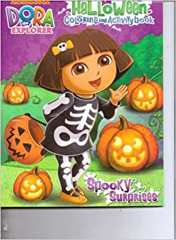 coloring pages dora halloween book - photo#38