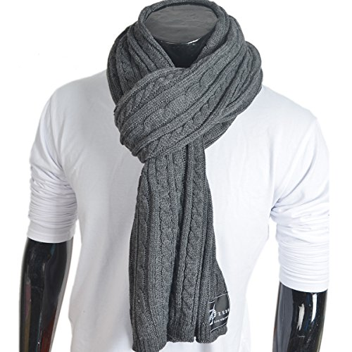 men-women-cable-knitted-winter-scarf-dark-gray
