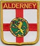Alderney Channel Islands Flag Embroidered Patch Badge