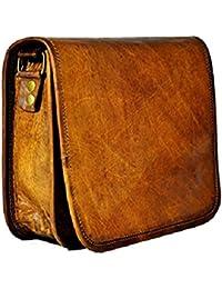 Pranjals Housegenuine Leather Hand Held Messenger Bag For Unisex Size H(9)*L(11)*W(3)
