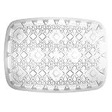 Party Essentials N22166 Heavy Duty Diamond Cut Plastic Rectangular Tray, 22