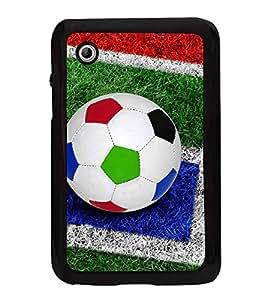Colourful Football 2D Hard Polycarbonate Designer Back Case Cover for Samsung Galaxy Tab 2 :: Samsung Galaxy Tab 2 P3100