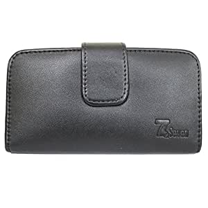 Jo Jo Leather Carry Case Cover Pouch Wallet Case For Infocus M812 Black